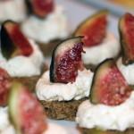 Kavringsnittar med parmesankräm och fikon