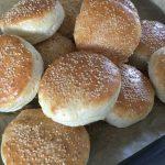 Hamburgerbröd, hemmagjorda