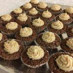 Chokladmuffins med pepparkaksfrosting