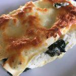 Vegetarisk lasagne med spenat, ricotta och fetaost